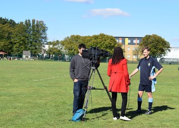 Sky Sports News film at Samuel Ryder Academy, ahead of the Ryder Cup!