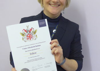Claire Robins OBE admitted as Fellow